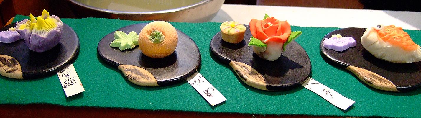 Wagashi (omogashi und higashi), Kiharu, Matsue (Foto: © 2016 fduprel)