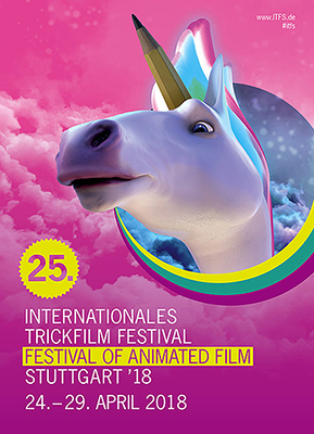Plakat: ITFS 2018 (©Film- und Medienfestival gGmbH, Stephanstraße 33, D-70173 Stuttgart)