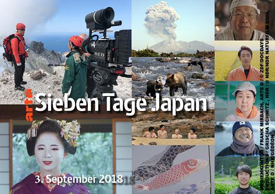 arte: 7 Tage Japan (MEDIENKONTOR / FRANK MIRBACH, ARTE D / © ZDF/DOCDAYS PRODUCTIONS / GRISCHA SCHMITZ , NDR / © NDR/NDR NATURFILM 2009, ARTE D / NHK/GÉDÉON)