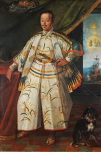 Hasekura Tsunenaga in Rom - Gemälde von Claude Deruet (Quelle: Wikipedia)