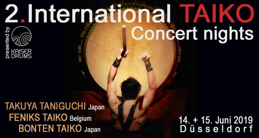 Plakat: 2. International TAIKO Concerts nights – die Kunst des japanischen Trommelns (Foto: © Yasuhiro Ohara)